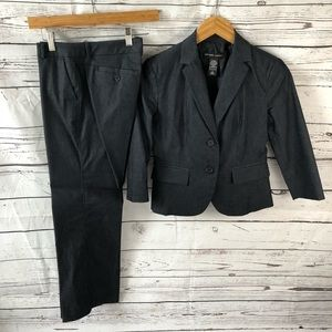 NWOT NY&C 2 Pc Suit Jacket Sz 2 Pants Sz 4 Petite